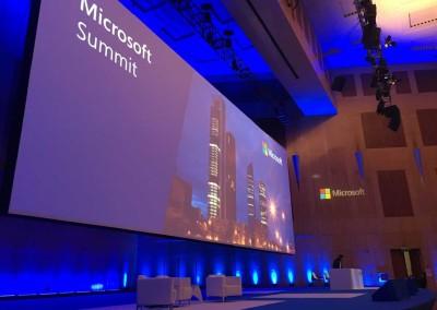 Técnico audiovisuales Microsoft Summit 2016