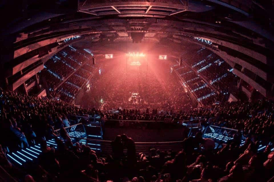 Vista del Wizink Center lleno en el concierto de La M.O.D.A.