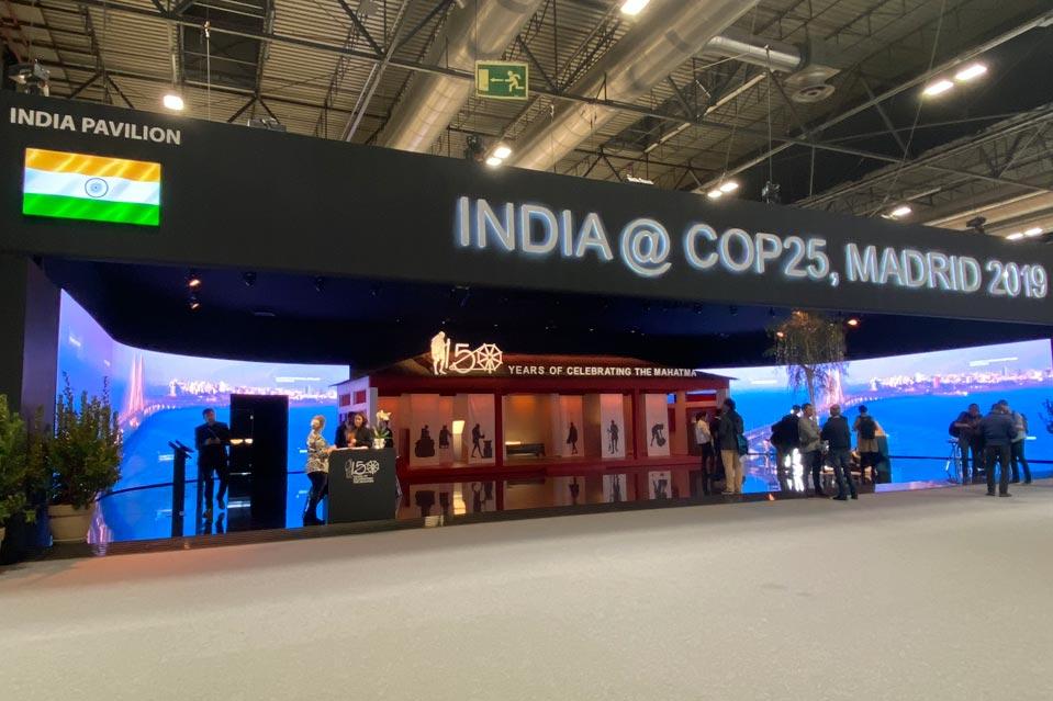 Pabellón de India en la COP25