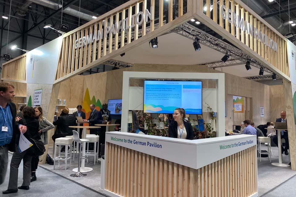 Pabellón de Alemania en la COP25